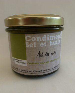 Condiments au sel et à l'huile
